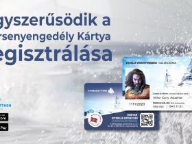 Fontos változás: Egyszerűsödik a versenyengedély kártya regisztrálása
