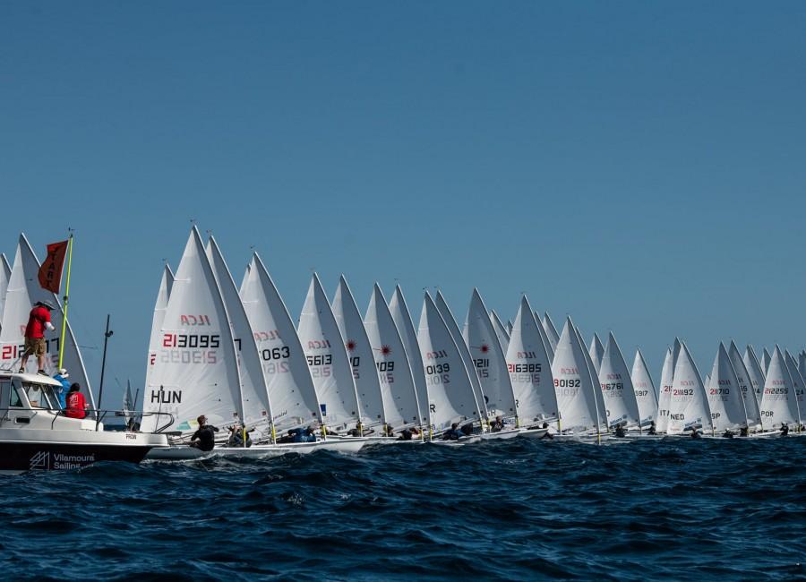 Laser európai kvalifikációs verseny, Vilamoura: Izgalmas, szeles futamok