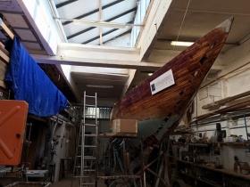 Műemlék, olimpikon hajót építenek újjá Veszprémben
