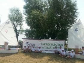Új gyerek vitorlás bázis a Tisza-tavon