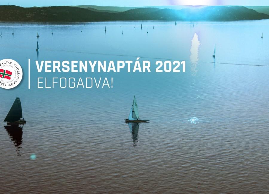 Versenynaptár 2021: elfogadva